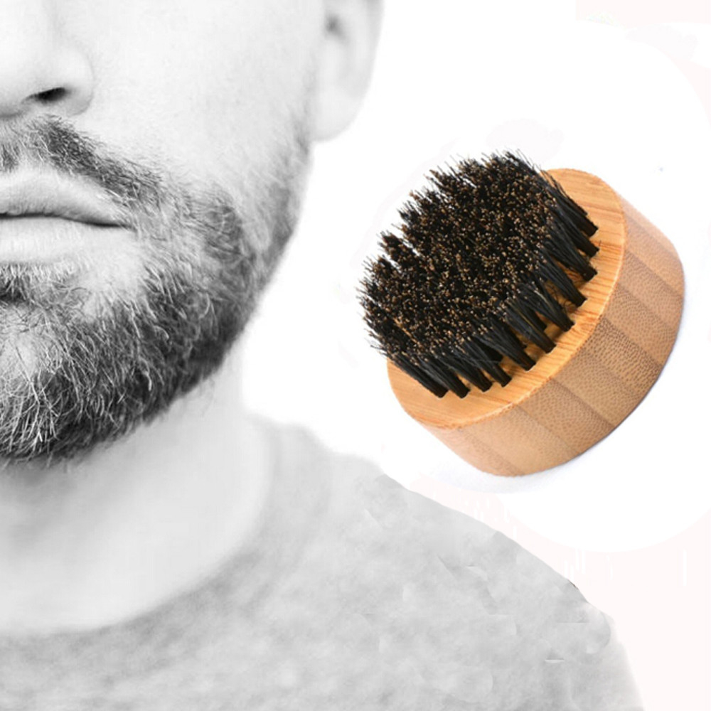 Men Beard Brush Wooden Handle Bristles Portable Clean Carding And Setting Brush 5b754148d9fd9137d721745a