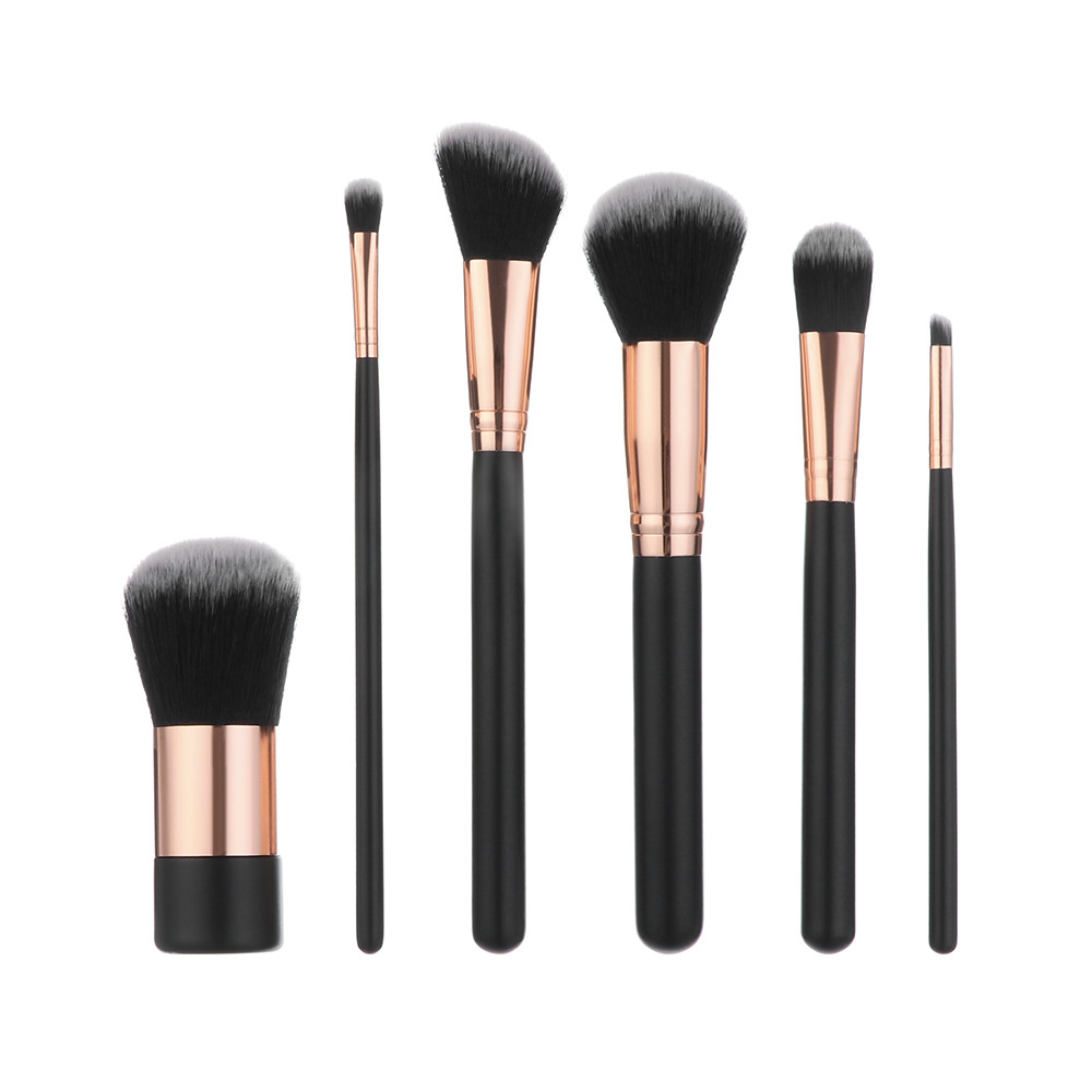 6Pcs Wooden Foundation Cosmetic Eyebrow Eyeshadow Brush Makeup Brush Sets Tool 5b7541509623524ae46f9bb9