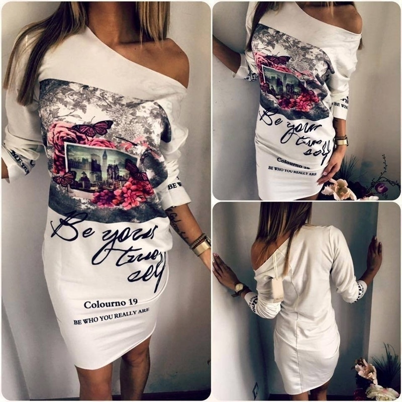 Women's Fashion Floral Printeed Plus Size Party Dresses - s, like the picture 5b766473ba07221a5e2a1f14