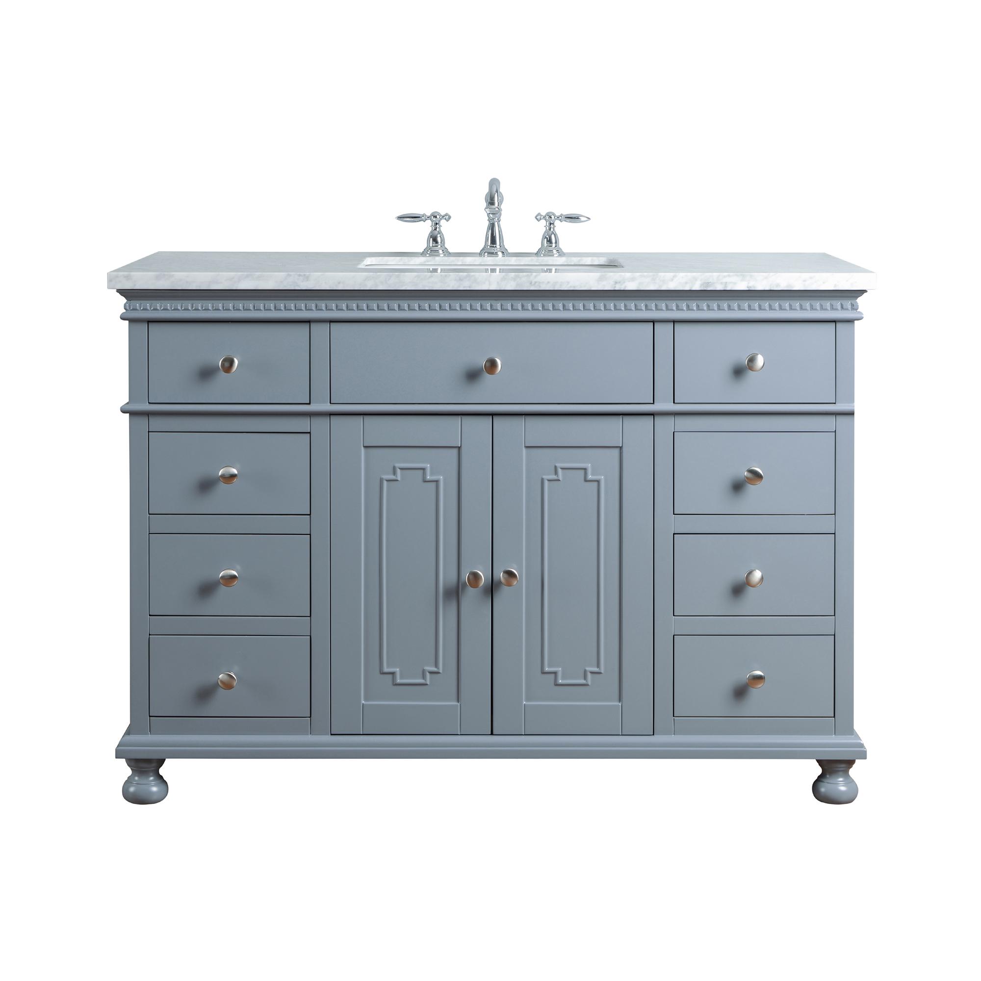 Abigail Embellished 48-inch Single Sink Bathroom Vanity - Grey