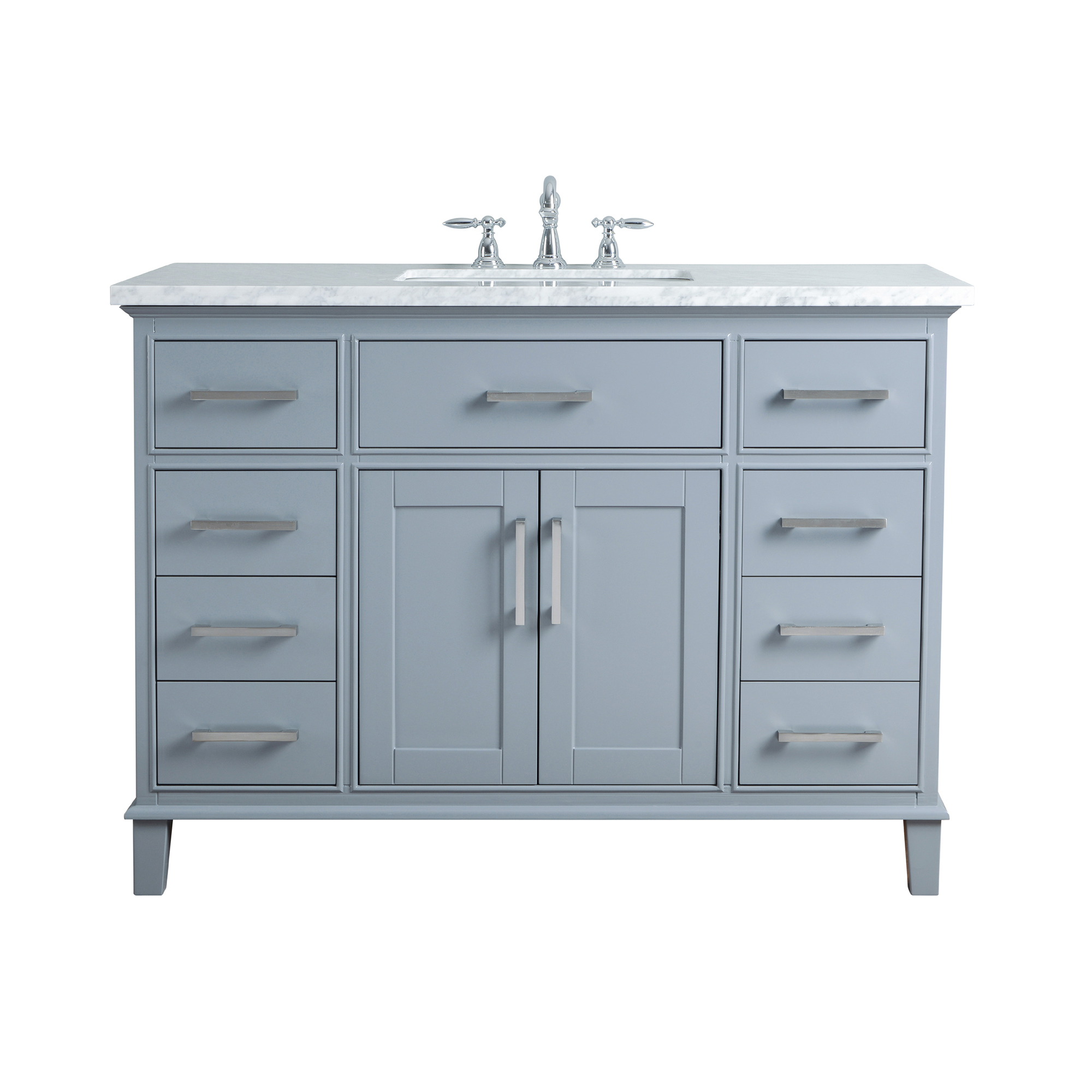 Leigh 48-inch Single Sink Bathroom Vanity - Grey