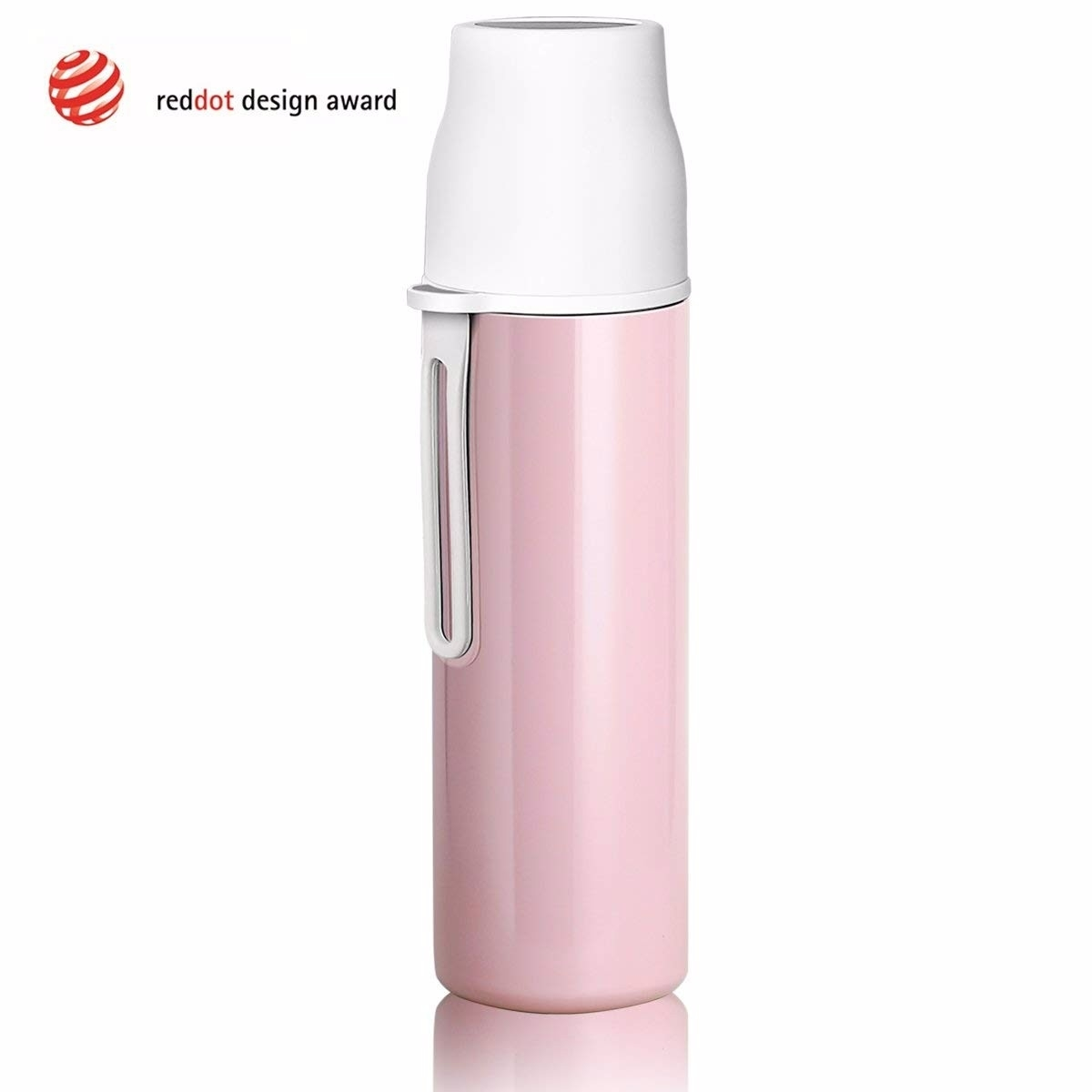 Stainless Steel Leak Proof Sport Water Bottles, Double Walled Vacuum Insulated Thermoses, Come with a Cleaning Brush 16ounce - pink