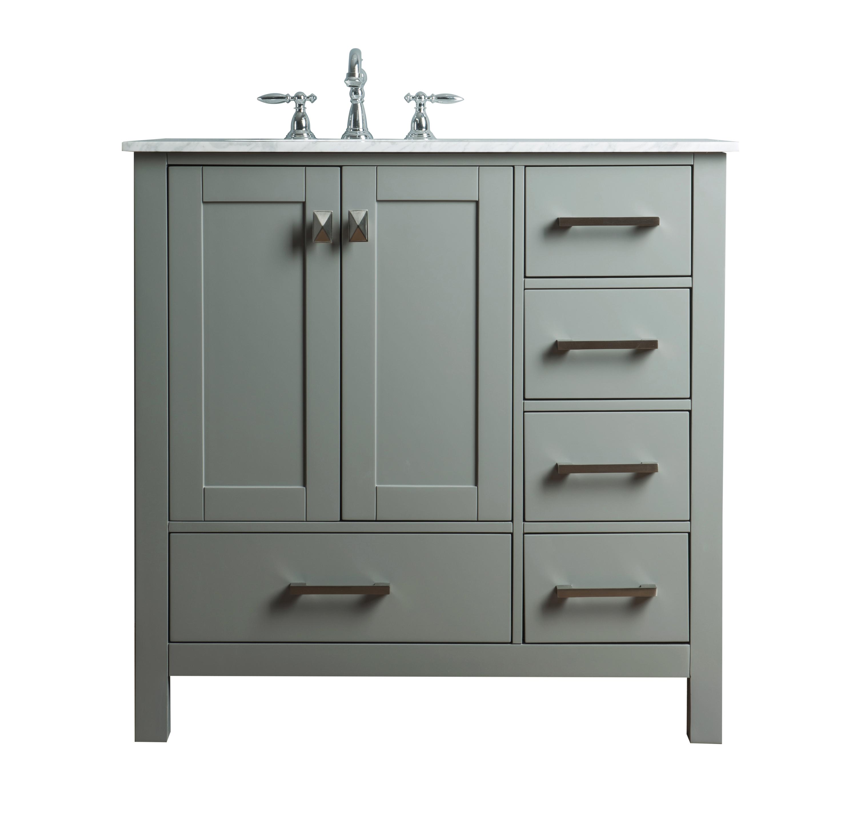 36-inch Malibu Single Sink Bathroom Vanity - Grey
