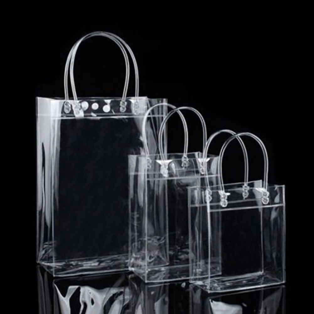 Clear Tote Bags Friendly Purse Shoulder Handbag PVC Transparent Plastic Pouch (Bluelans) photo