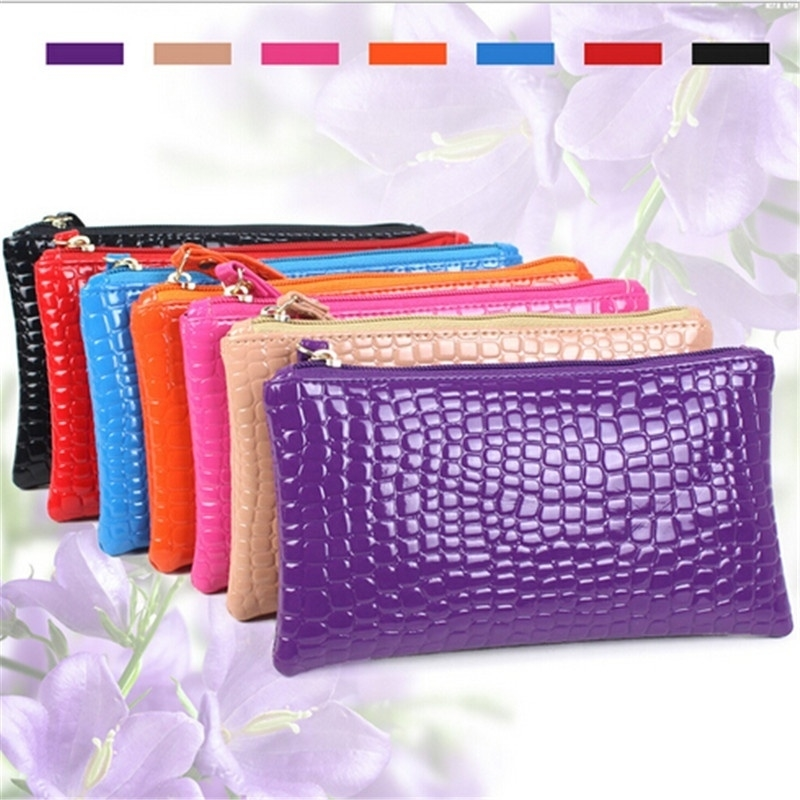 Hot Promotion New Fashion Women's Elegant Zipper Purse PU Leather Candy Colorful Long Wallets For Girl Handbags (Kindenry) photo