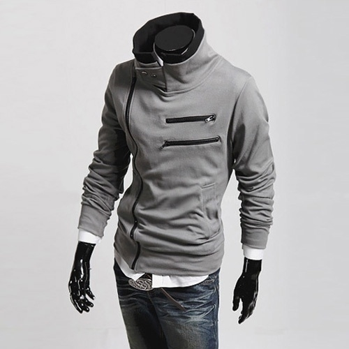 Solid Color New Fashion Men's Slim Fit Leisure Top Designed Hooded Jackets Coats 5b8dc9c0d9fd913d231b47b6