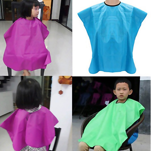 Child Salon Waterproof Hair Cut Hairdressing Barbers Cape Gown Wai Cloth