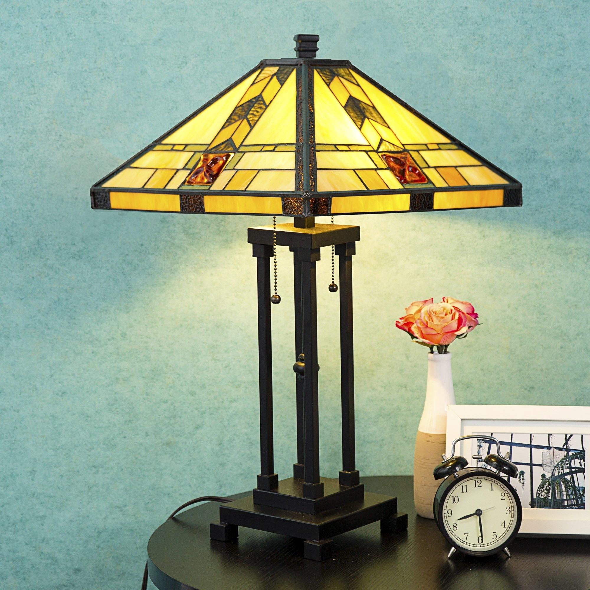 Tiffany Style Lamp Table Lamp Home Decor Lighting Mission Design Desk Lamp