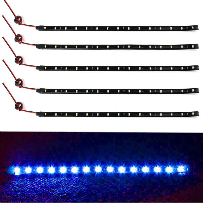 5 x 15 LED 12V 30cm Car Motor Vehicle Flexible Waterproof Strip Light