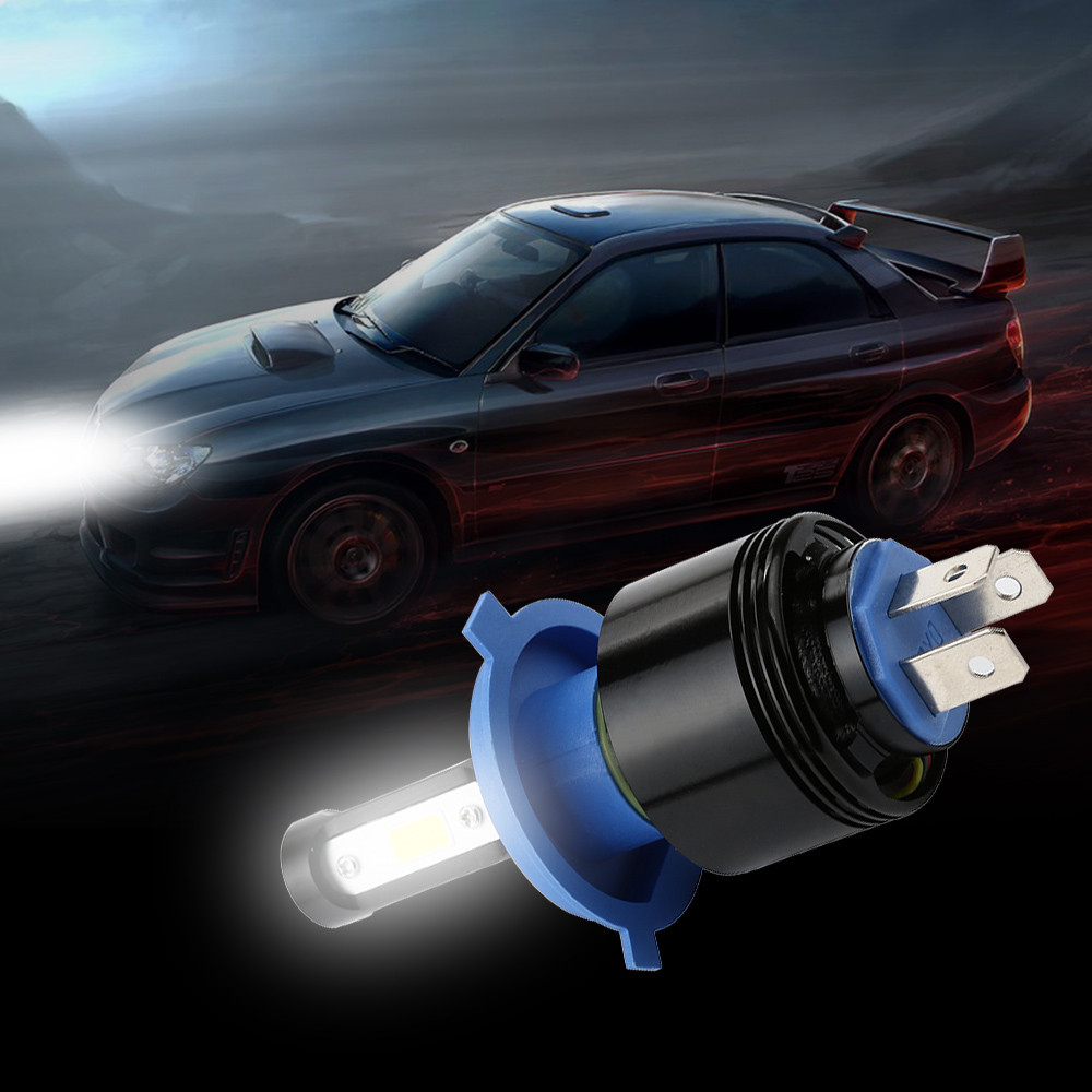 LED Headlight Bulbs All-in-One Conversion Kit – (H4) -4000Lm 6500K White