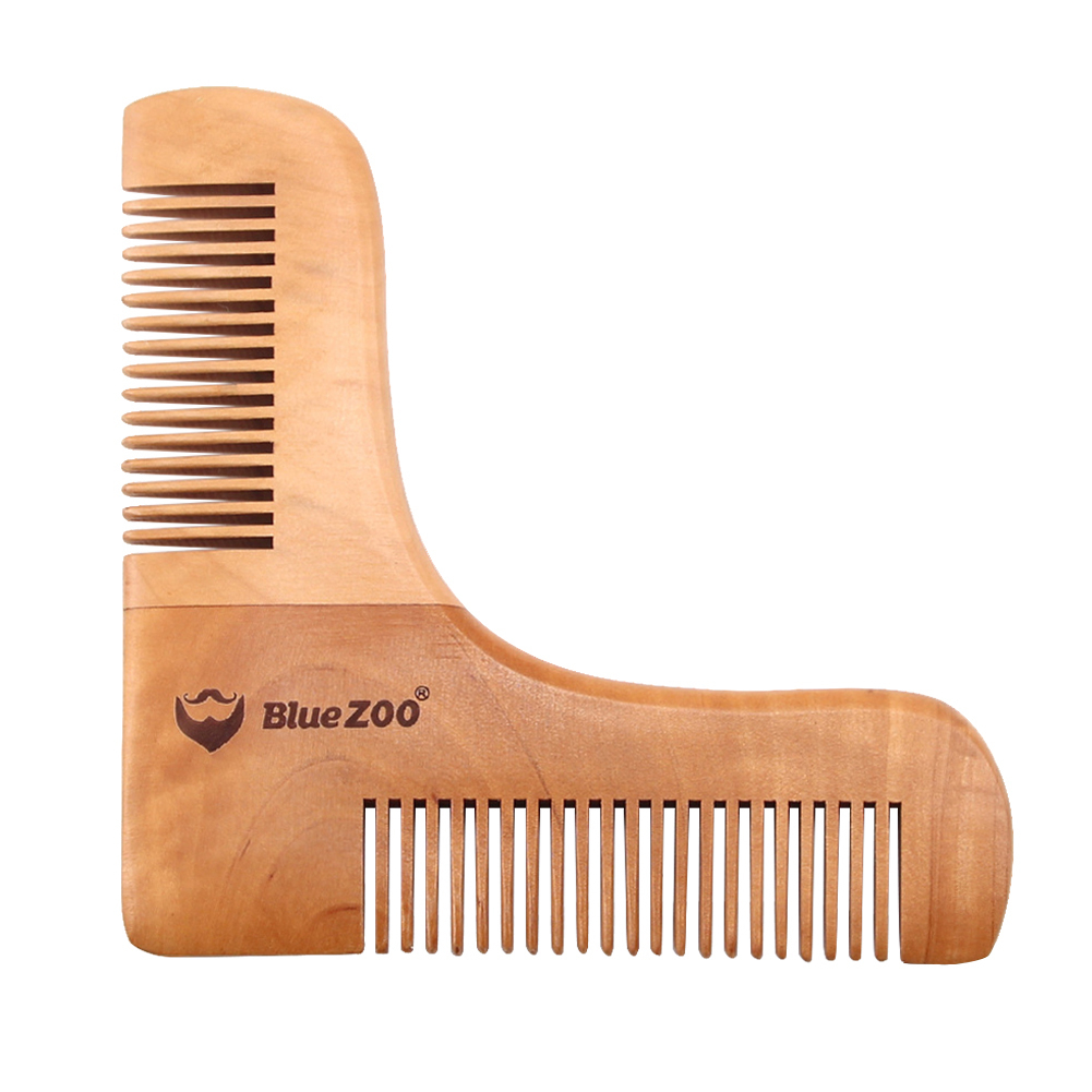 Men Beard Styling Shaping Template Wooden Comb Tool for Perfect Lines Symmetry 5b98cf449623527e2602ef26