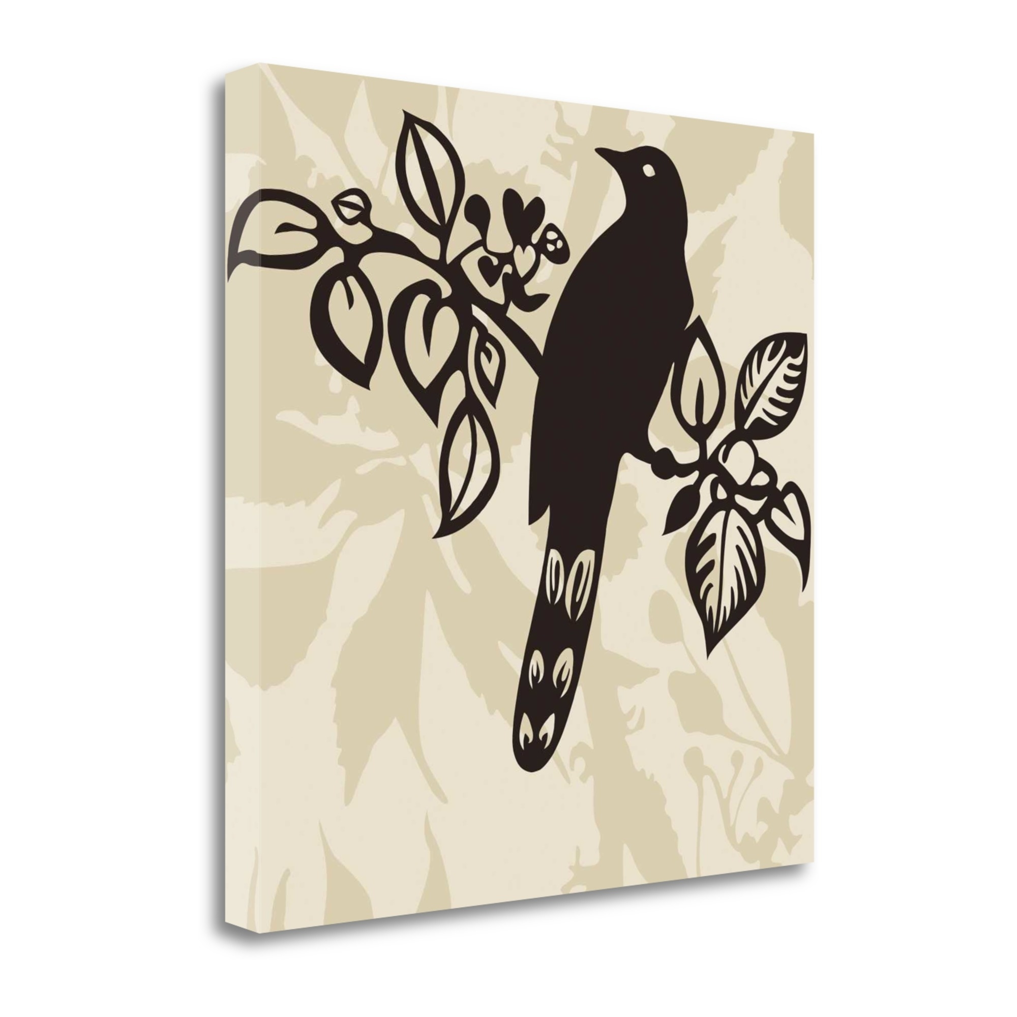 "Song Bird 1 By Jette Svane, 23"" x 23\"" Fine Art Giclee Print on Gallery Wrap Canvas, Ready to Hang"