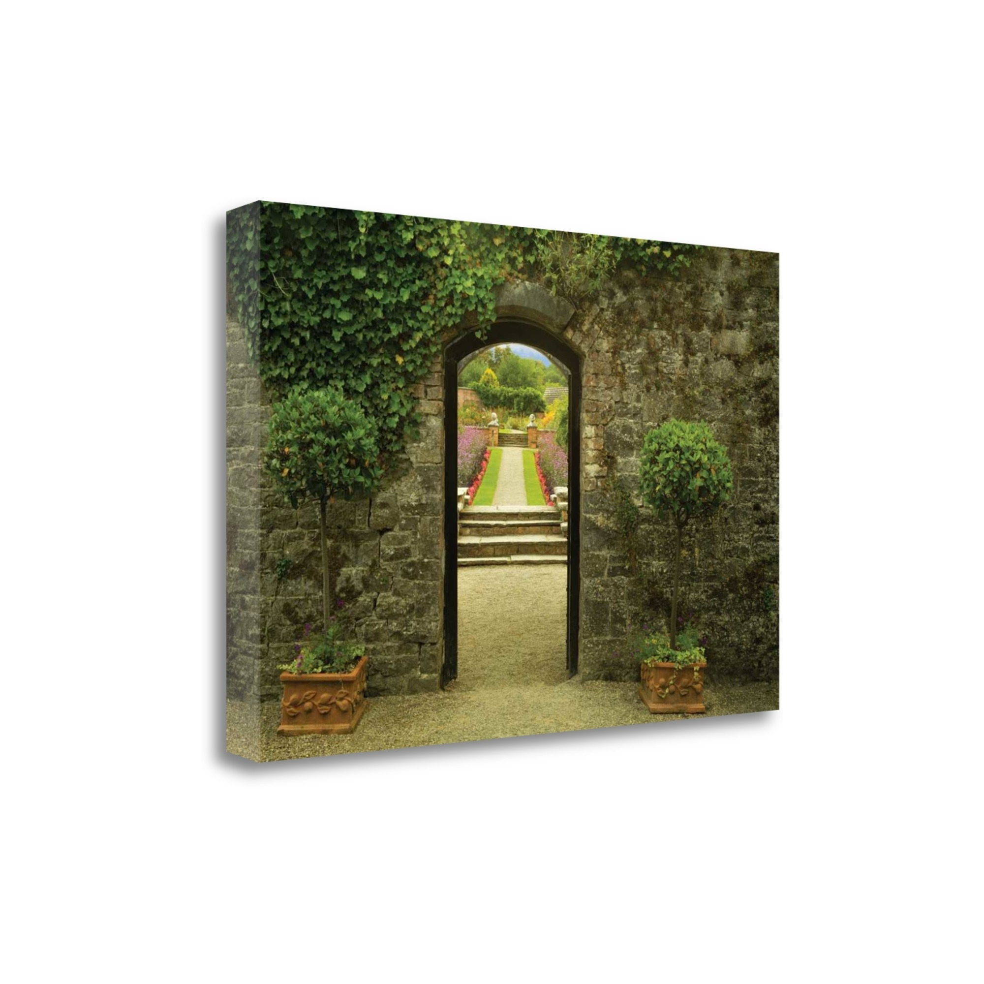 "Garden Arch By Dennis Frates, 47"" x 32\"" Fine Art Giclee Print on Gallery Wrap Canvas, Ready to Hang"
