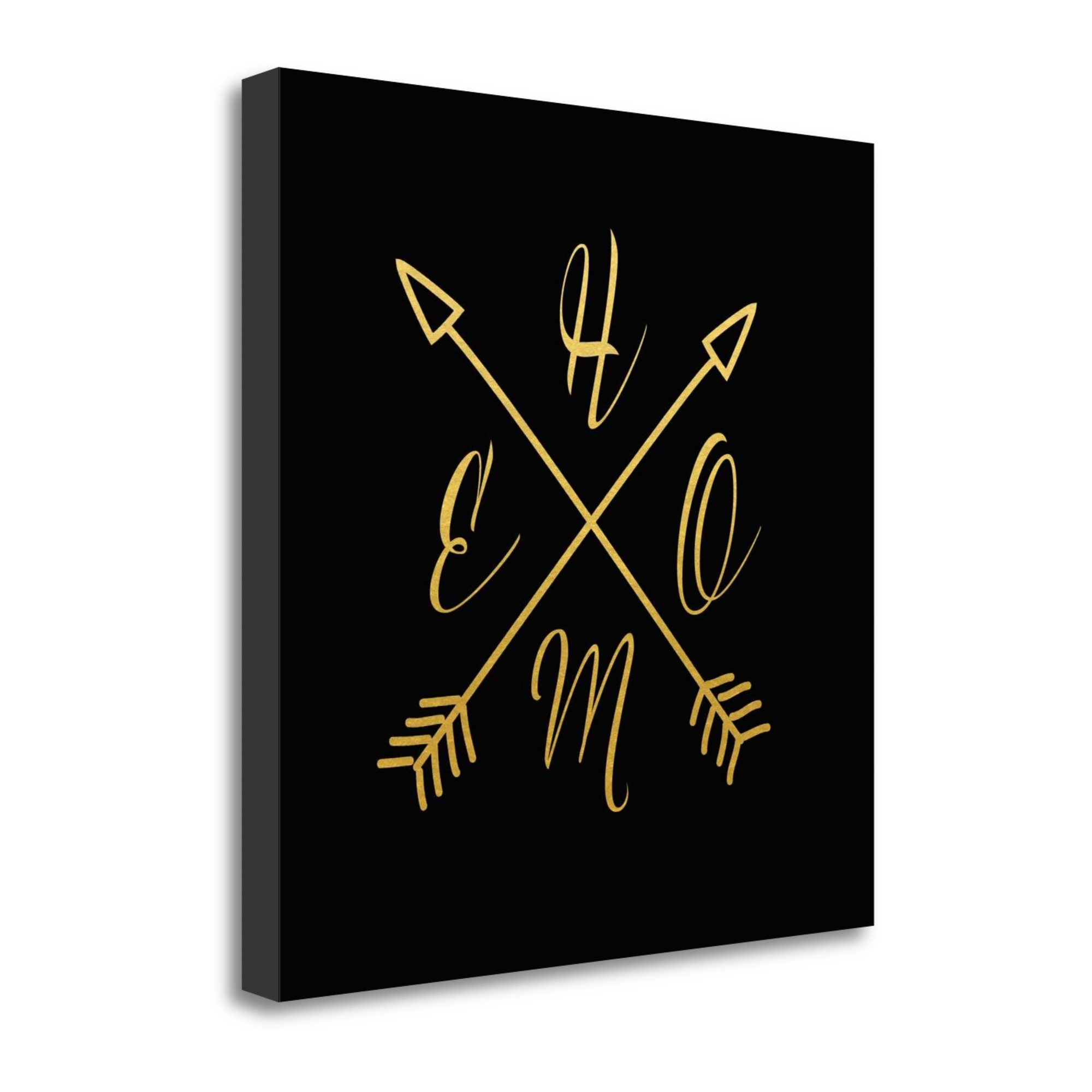 "Home Arrows By Tara Moss, 26"" x 26\"" Fine Art Giclee Print on Gallery Wrap Canvas, Ready to Hang"