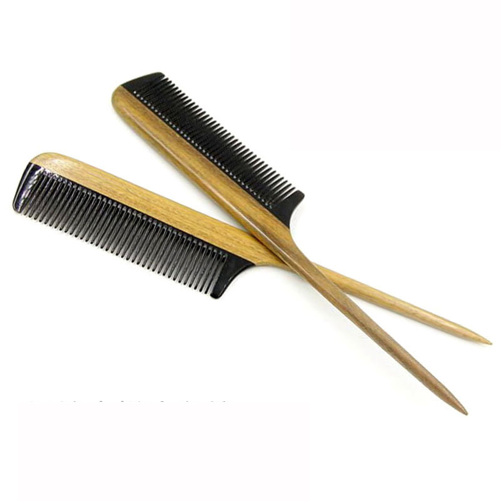 Horn Comb Wooden Comb Handle Handmade Sandalwood Fine Tooth Curly Hair Comb 5bab6be7962352460424a3c7