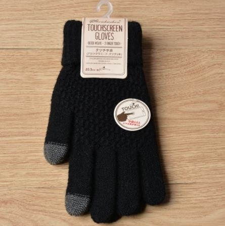Magic Touch Screen Sensory Gloves For Women Gloves Girl Female Stretch Knit Gloves Mittens Winter Warm Accessories Wool Guantes - black 5bad892ec08ec708393fcec3
