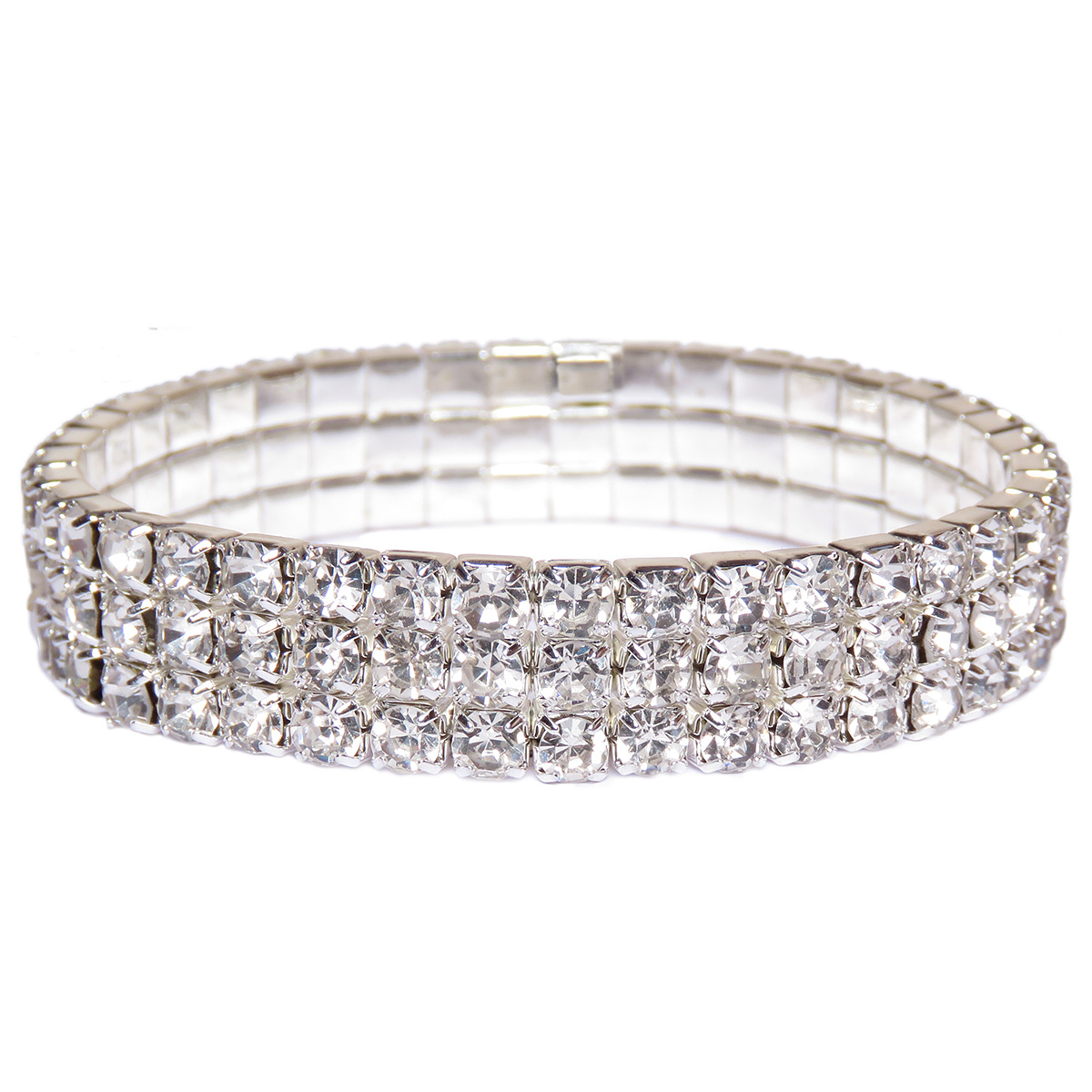 Silver_Crystal_Tennis_Bracelets_for_Women_Three_Layer_Rhinestone_Jewelry