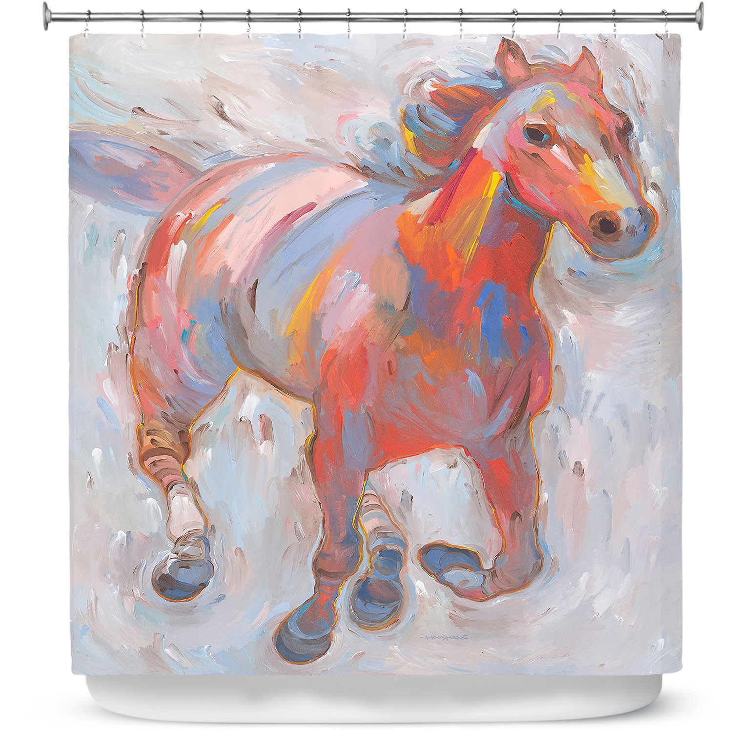 Shower Curtains - DiaNoche Designs - Hear the Pounding I