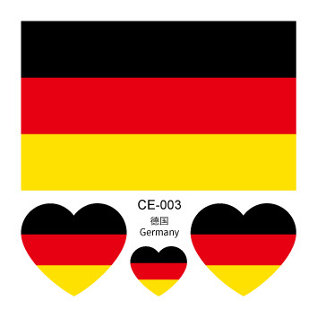 Nation Flag Temporary Tattoo Face Sticker Germany Flags 5bb5b8e5962352186d77f253