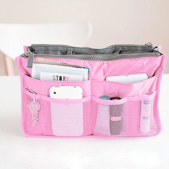 Every Woman Handbag Purse Organizer - Green (Superg116-Pink) photo