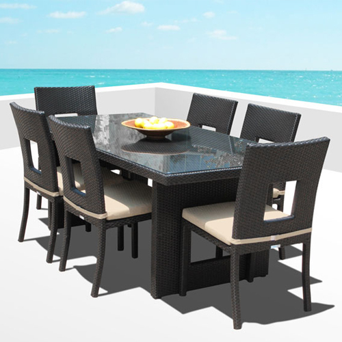 Nicole 7-Pc Outdoor Patio Dining Table & Chair Set