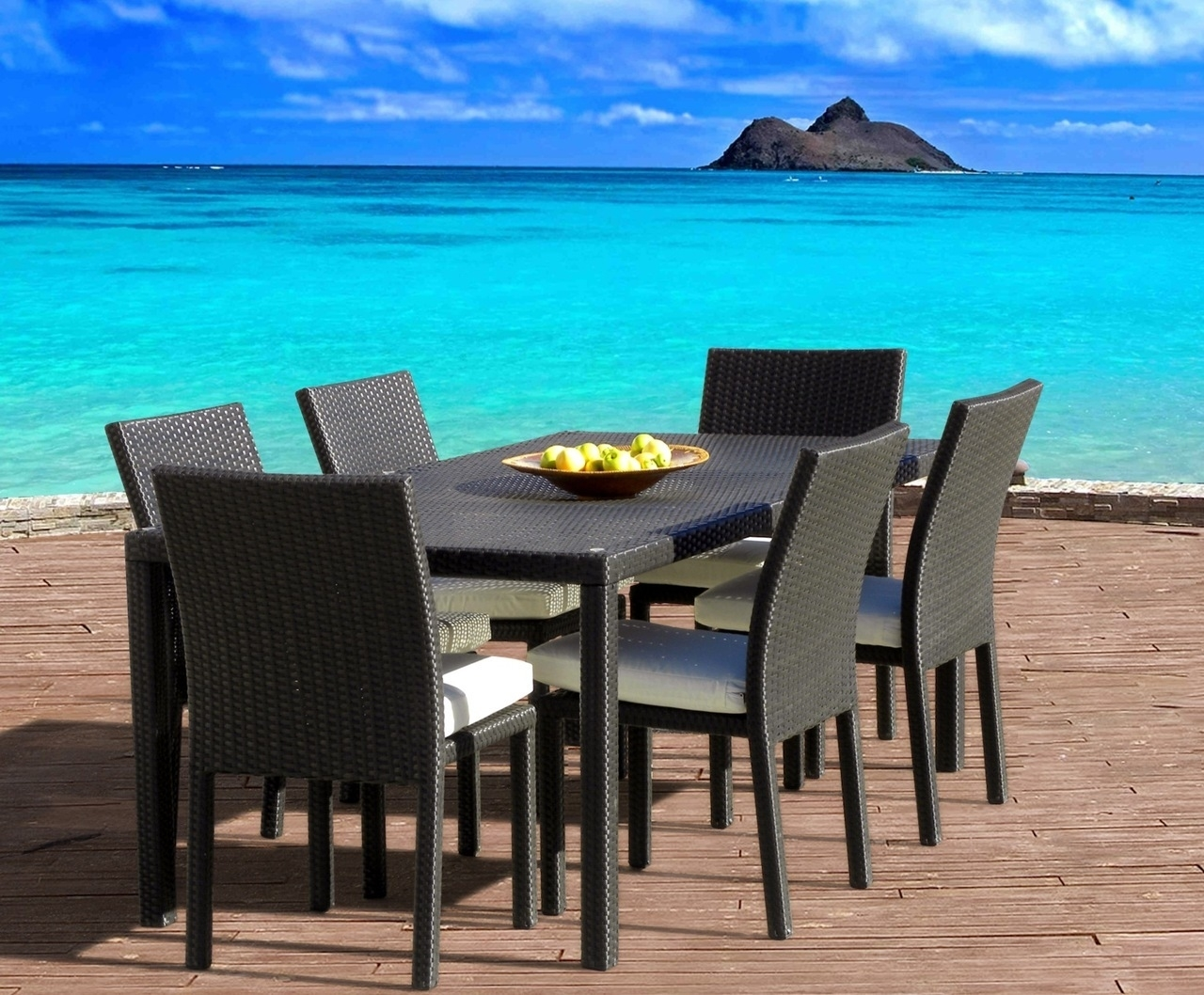 Cozumel 7-Piece Outdoor Patio Dining Table & Chair Set