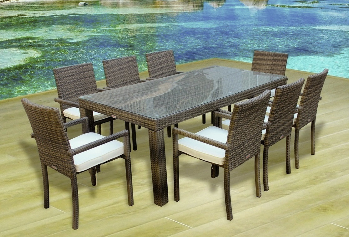 Cozumel 9-Pc Outdoor Patio Dining Table & Chair Set