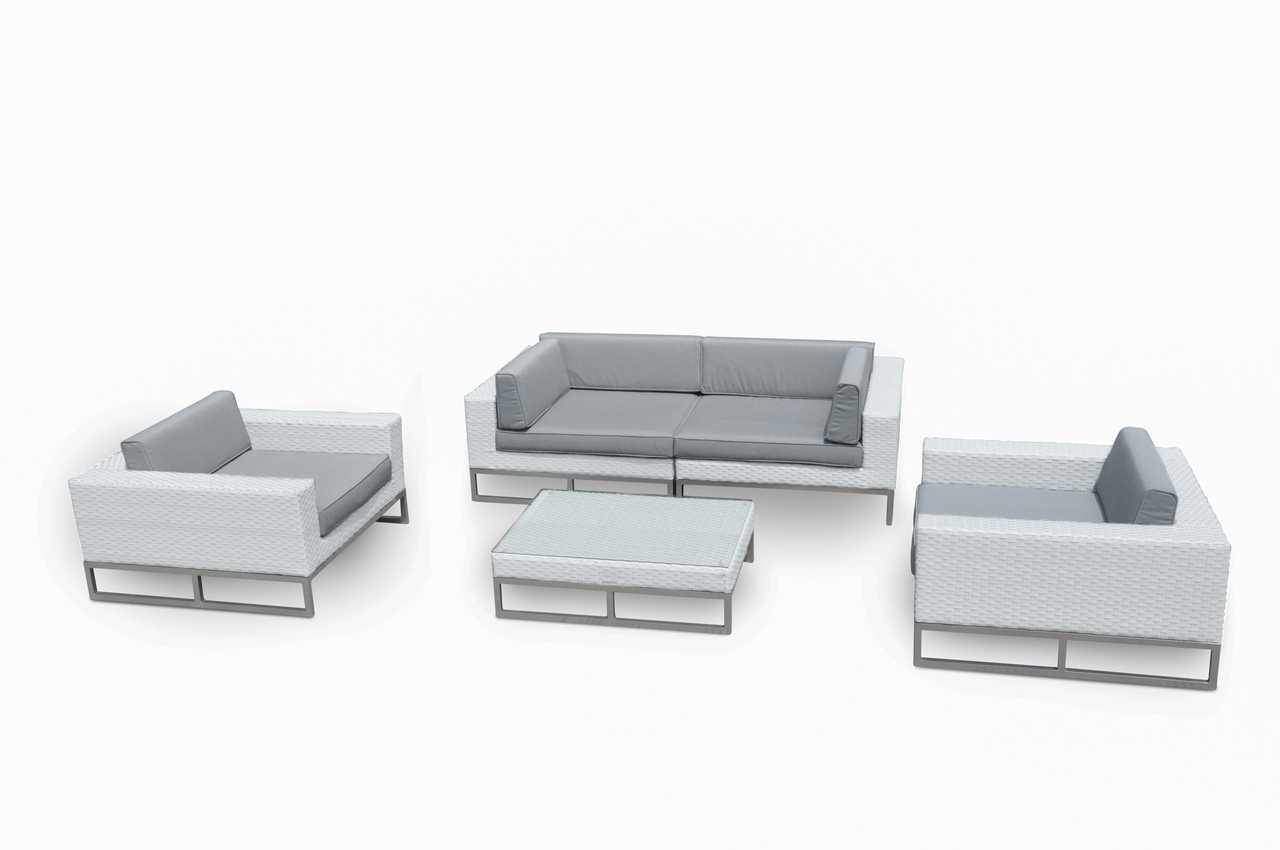 Marseille 5-Pc All Weather Wicker Outdoor Furniture Sofa Set