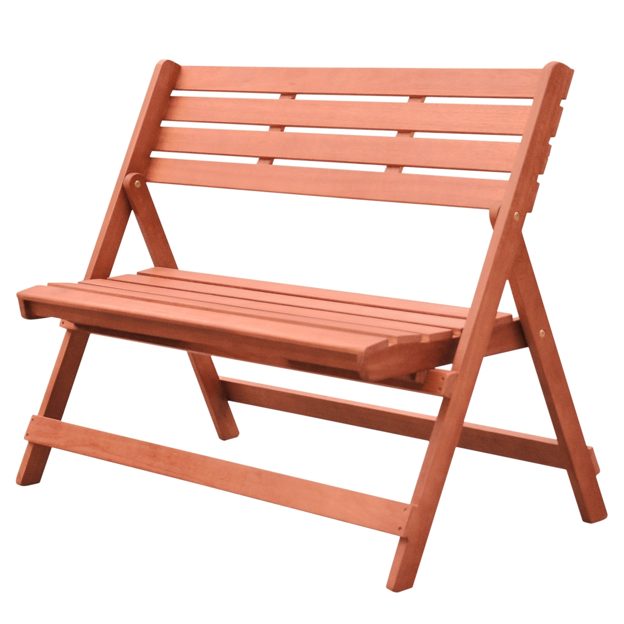 Christie and Charlie's Outdoor Patio 4-foot Wood Folding Bench