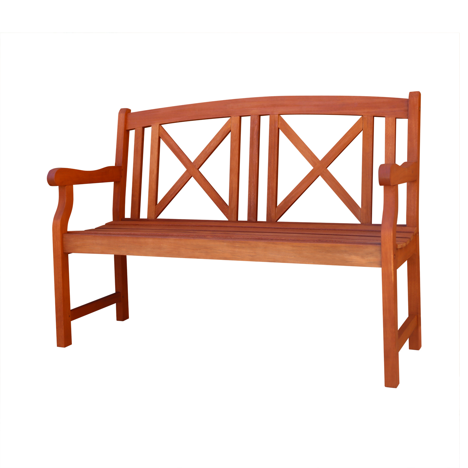 Malibu Outdoor Patio 4-foot Wood Garden Bench