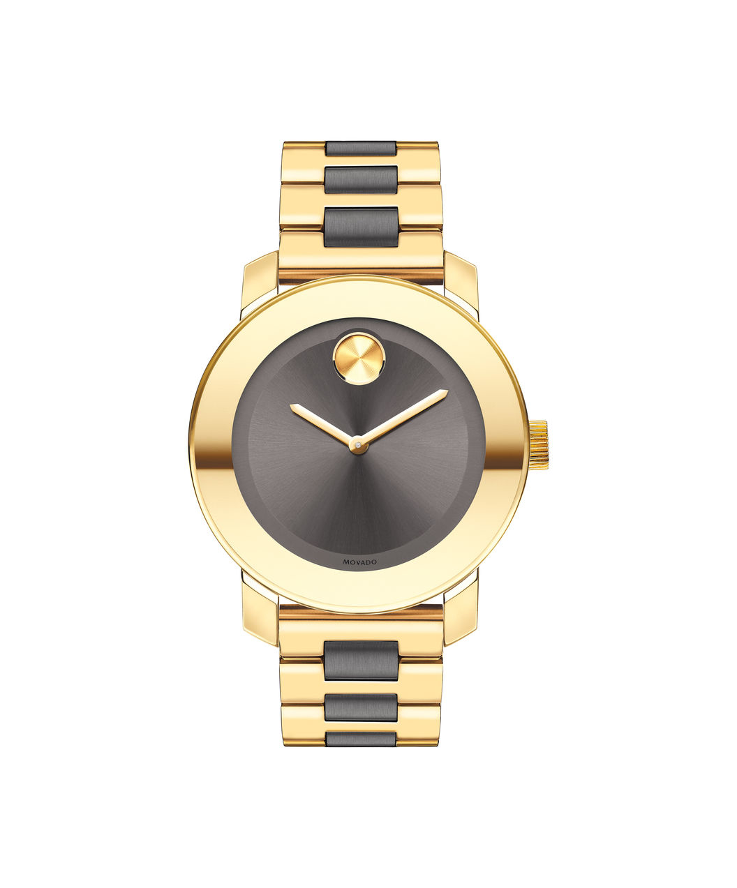 Movado Bold Grey Sunray Dial Yellow Gold and Grey Ion-plated Stainless Steel Band Ladies Quartz Watch 3600338 -  RightTime