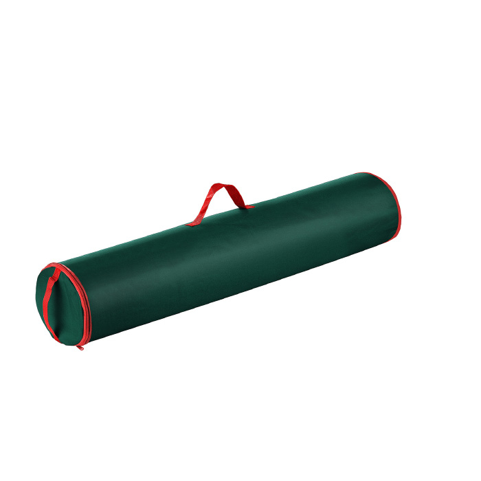 Green 40 Inch Christmas Wrapping Paper Canvas Storage Bag Tube Handle Zipper