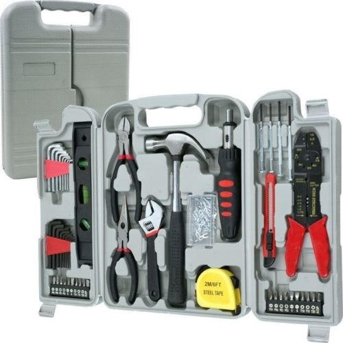DIY All Purpose Complete Hand Tool Kit All You Need Hand Tool Set Hammer Wrench Screwdrivers