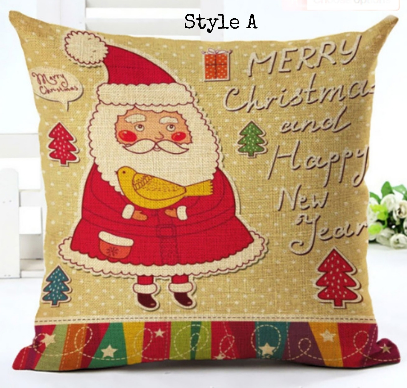 BUY 2 GET 1 Free Fun Santa Christmas Pillow Covers - A