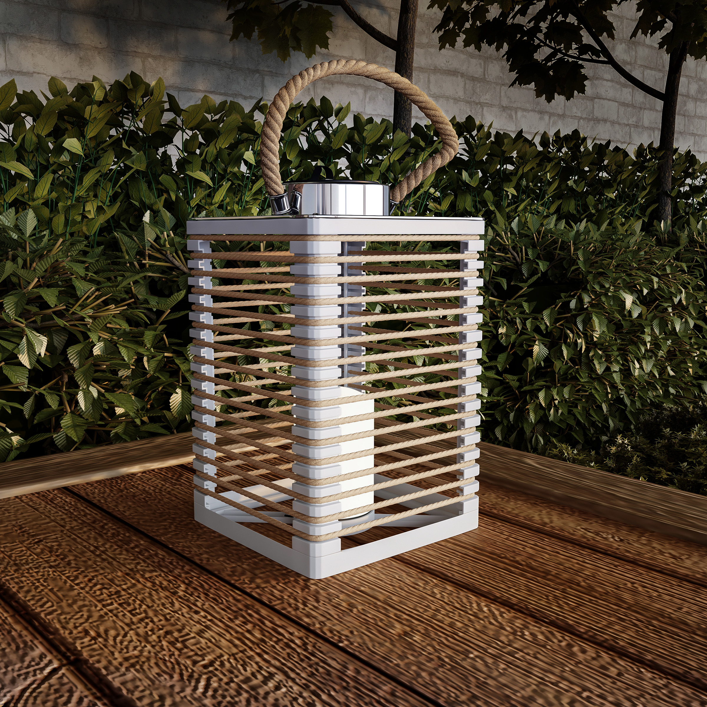Solar Powered Lantern LED Candle Indoor Outdoor Flameless Lighting Solar or AA Battery Operated