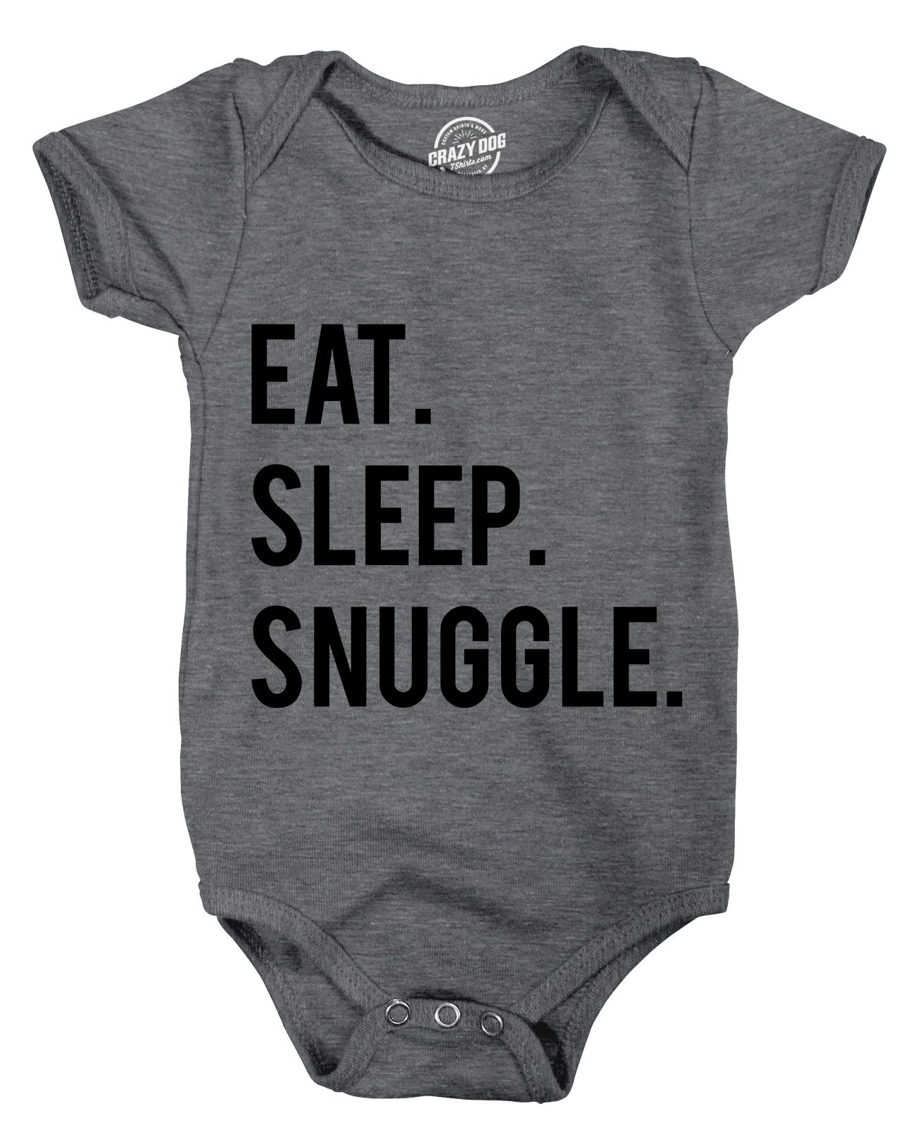 Creeper Eat Sleep Snuggle Baby Bodysuit Adorable Infant Lifestyle Jumpsuit