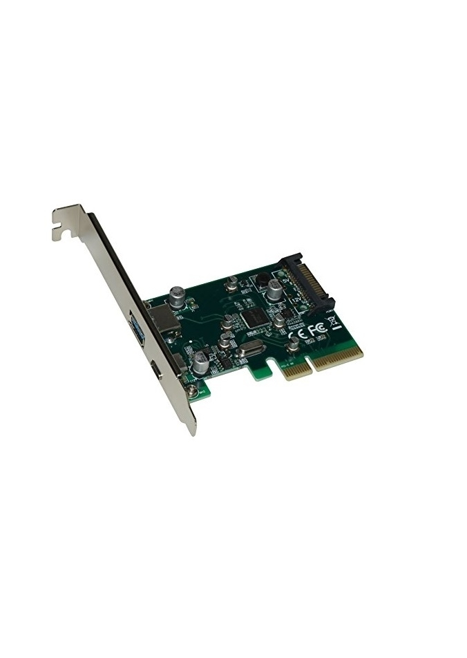 XtremPro 11108 PCI E to USB 3.1 Type A TypeC Expansion Card Gen 2/3 10Gbps Internal 15Pin Cdrom photo