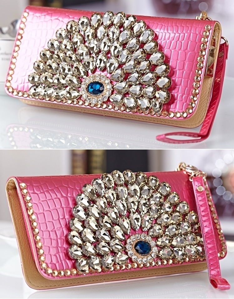 Classic women female ladys purse wallets rhinestone clutch purse wallets handbags bags womans purse wallets bags (Little Magpies) photo