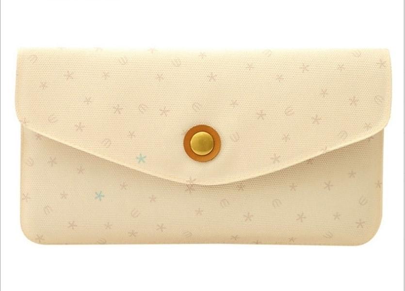 Miss Wallet Retro fashion lady purse Creative geometric clutch purse Snow Design (Little Magpies) photo