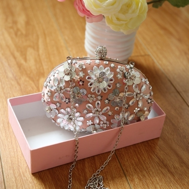 Flower Purses For Women Luxury Rhinestone Crystal Evening Clutch Bags (Little Magpies) photo