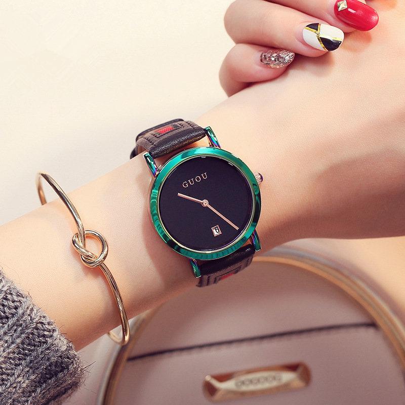 Watch_Women_Fashion_Colorful_Stainless_Steel_Ladies_Watch_-_green_&bla