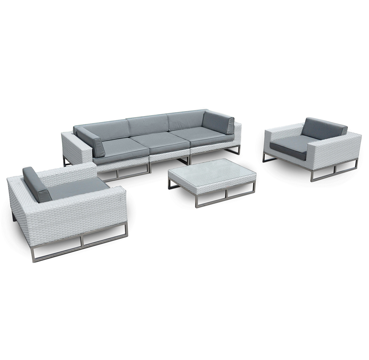 Marseille 6-Pc All Weather-Wicker Outdoor Sofa Sectional Set