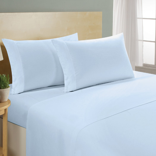 Luxurious 1,000 Thread Count Egyptian Cotton Sheet Sets (4-Piece) - Blue, Queen