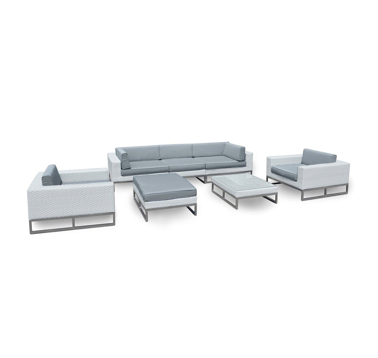 Marseille 7-Pc All Weather-Wicker Outdoor Sofa Sectional Set