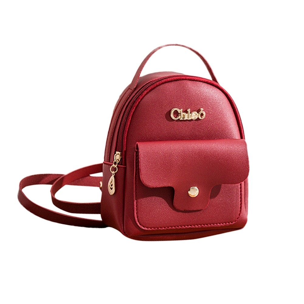 Fashion Ladies shoulders Small Backpack Letter Purse Mobile Phone Bag (LYH80925412RD) photo