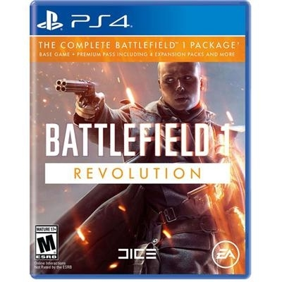 Battlefield 1 revolution edition ps4. Model includes the battlefield 1 base game, codes for the 4 expansion packs and additional content.