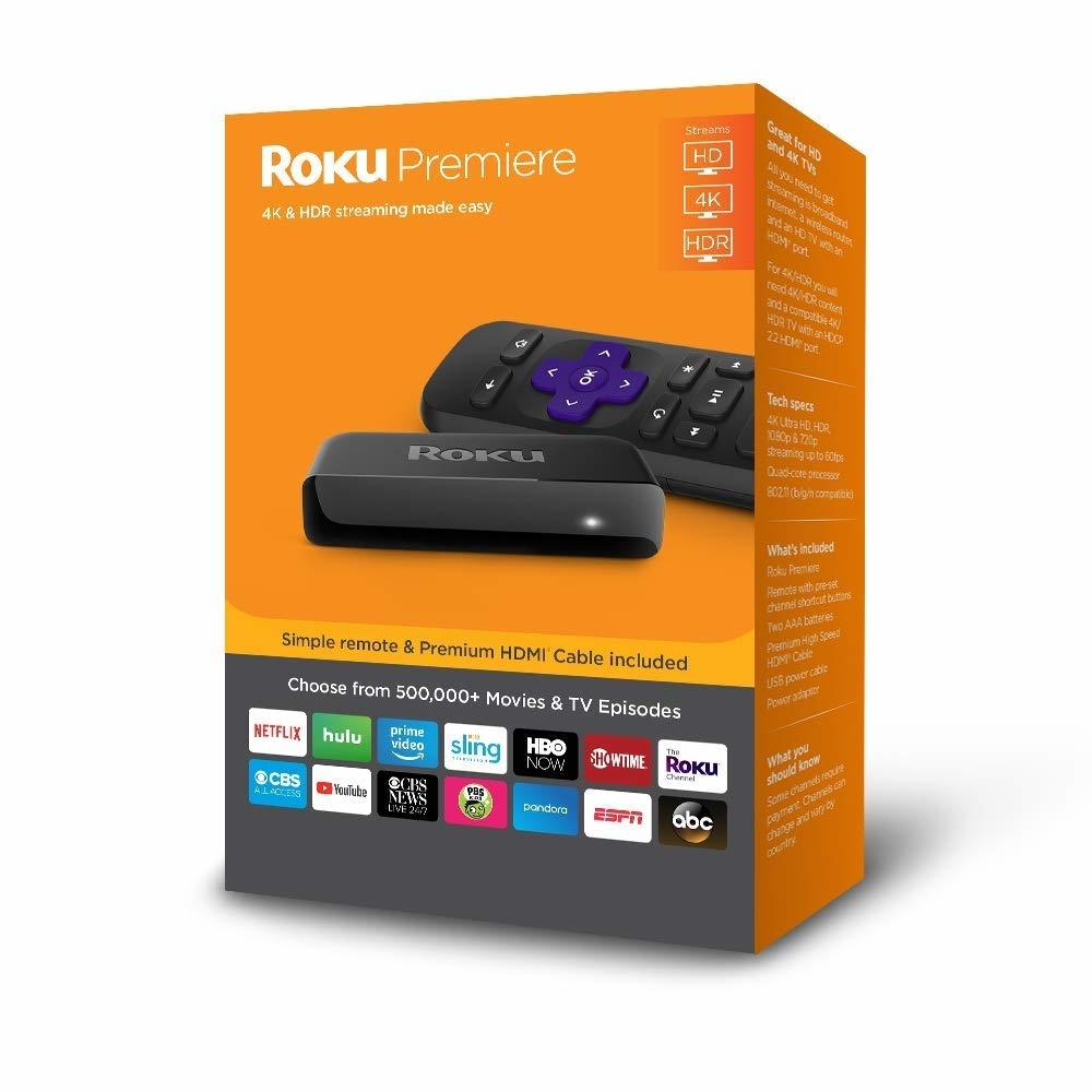 Roku Premiere | HD/4K/HDR Streaming Media Player with Simple Remote and
