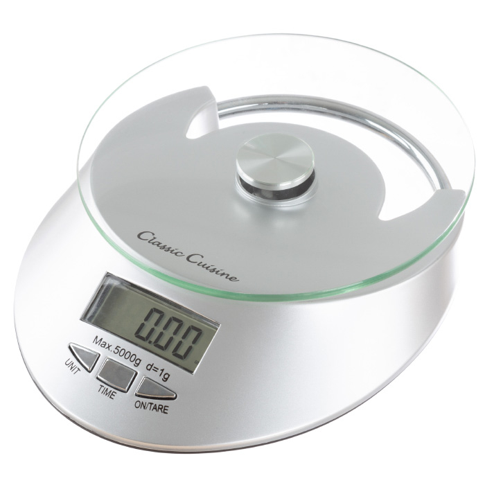 Kitchen Scale-Digital Electronic Food Weighing Appliance, 11Lb. or 5000g Capacity-Measure Cooked Portions, Meat, Baking Ingredients