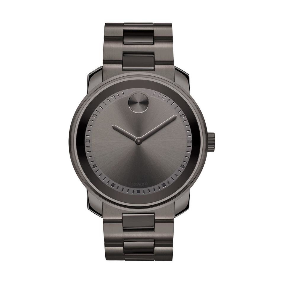 Movado Bold Grey Dial Grey Ion-Plated Stainless Steel Band and Case Unisex Quartz Watch -  RightTime