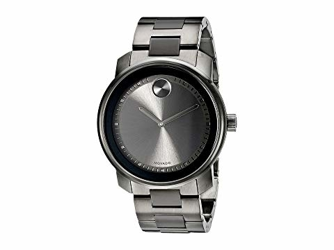 Movado Bold Grey Dial Grey Ion-Plated Stainless Steel Band and Case Unisex Quartz Watch 3600259 -  RightTime